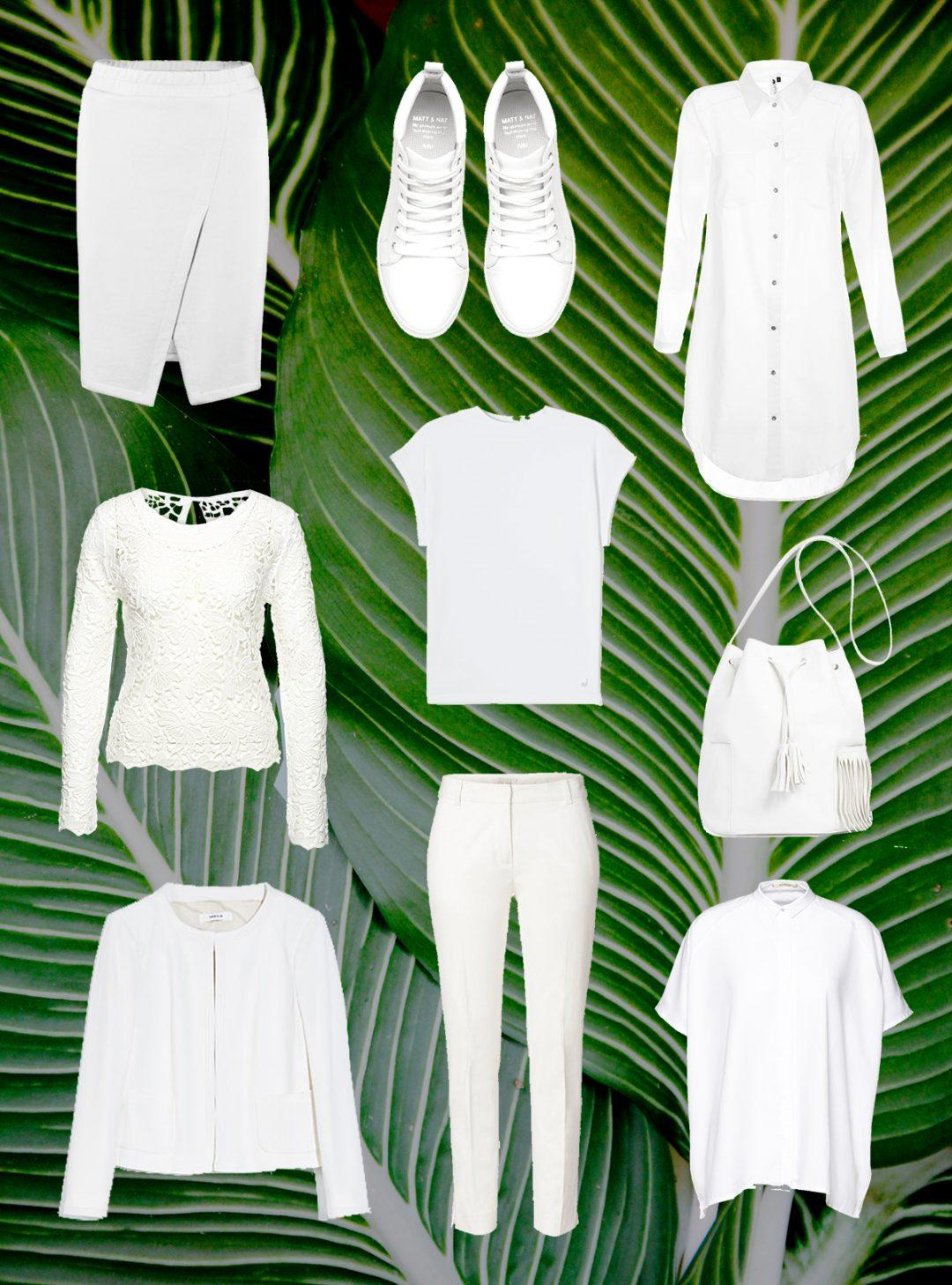 weiße sommerteile x palme